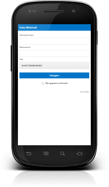 intio webmail via mobiel