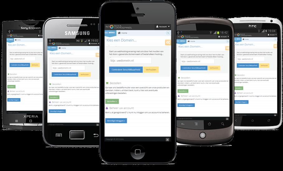 Nieuwe website stijl Intio Controlepaneel