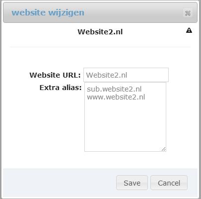 Wijzigwebsite